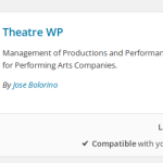 Add Theatre WP plugin